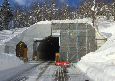 トンネル壁面コンクリート保護