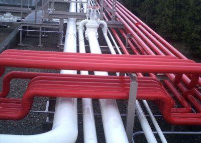燃料配管プラントフッ素樹脂塗装