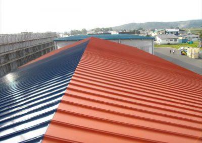 農協倉庫屋根シリコン樹脂塗装