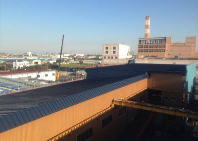 工場屋根シリコン樹脂塗装