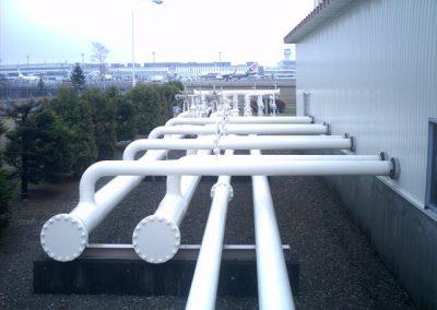 燃料配管プラントウレタン樹脂塗装
