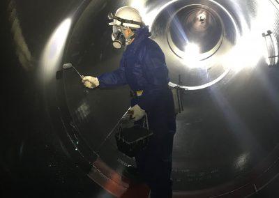 推進管内防食塗装2